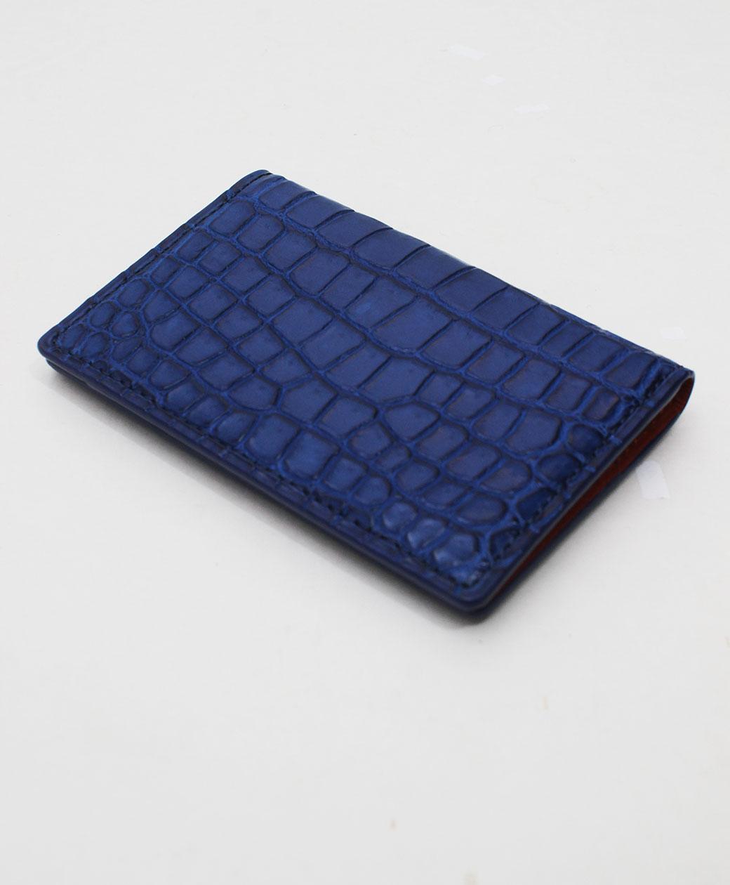 BRU NA BOINNE クロコカードケース(ブルー)