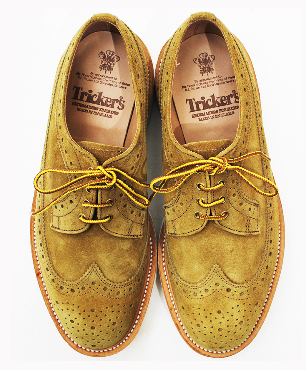 Tricker's M7306 Bloch Repello Suede Golosh Brogue(Marraca)