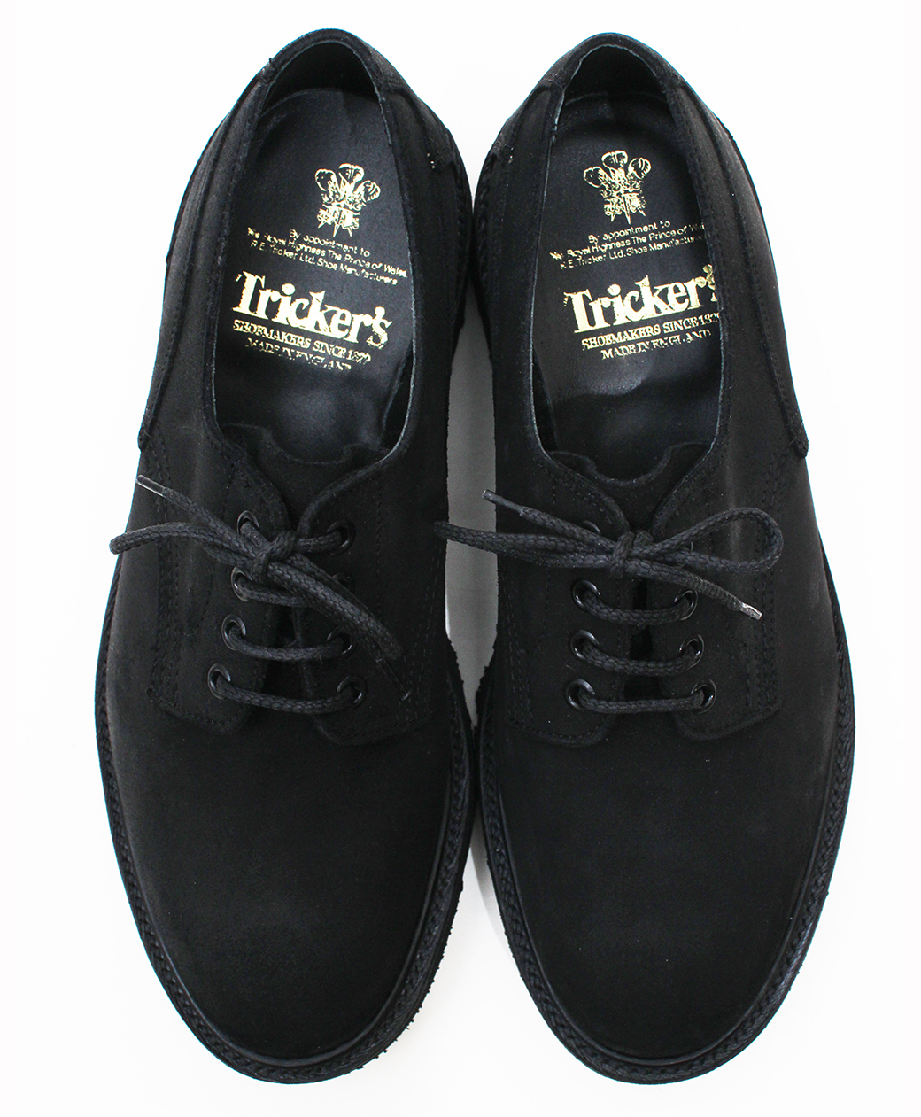 Tricker's 8173 Black Waxy Commando Super Shoes(Black)