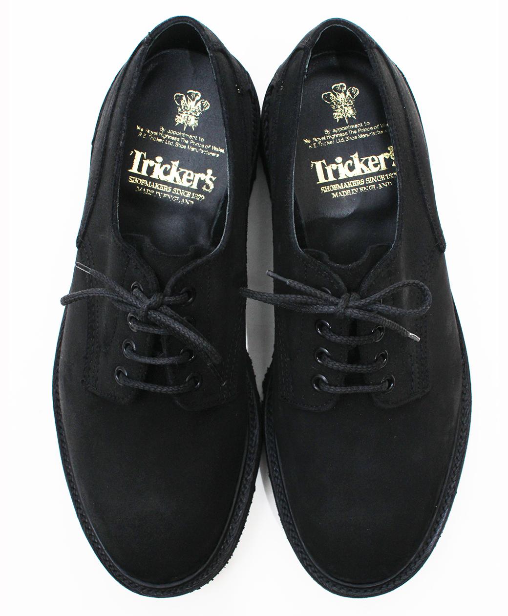 Tricker's 8173 Black Waxy Commando Super Shoes(Black)