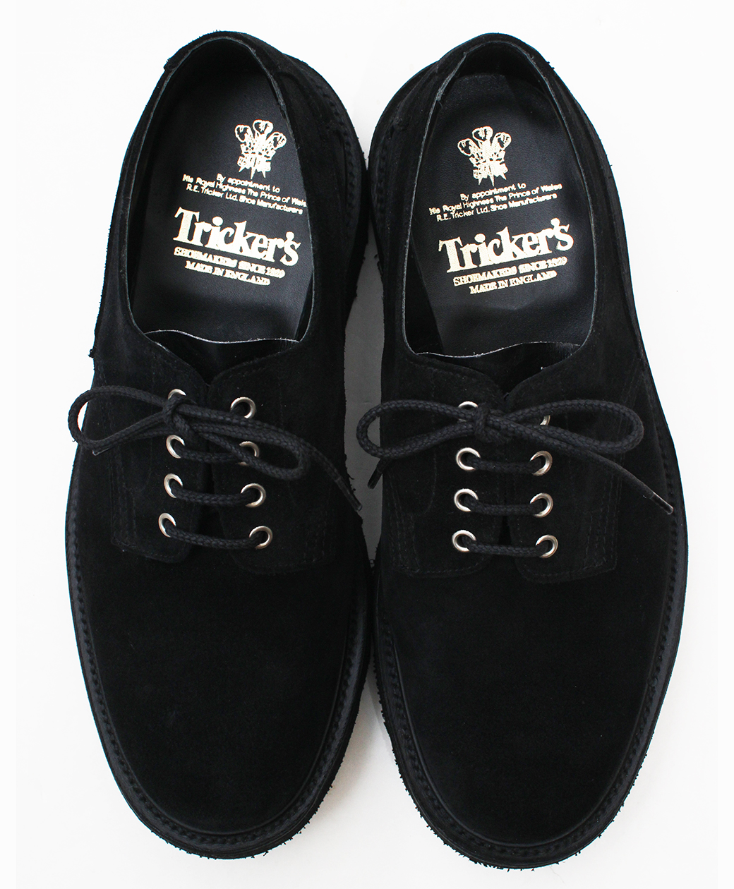 Tricker's M5636 Two Tone Super Shoes(Black)