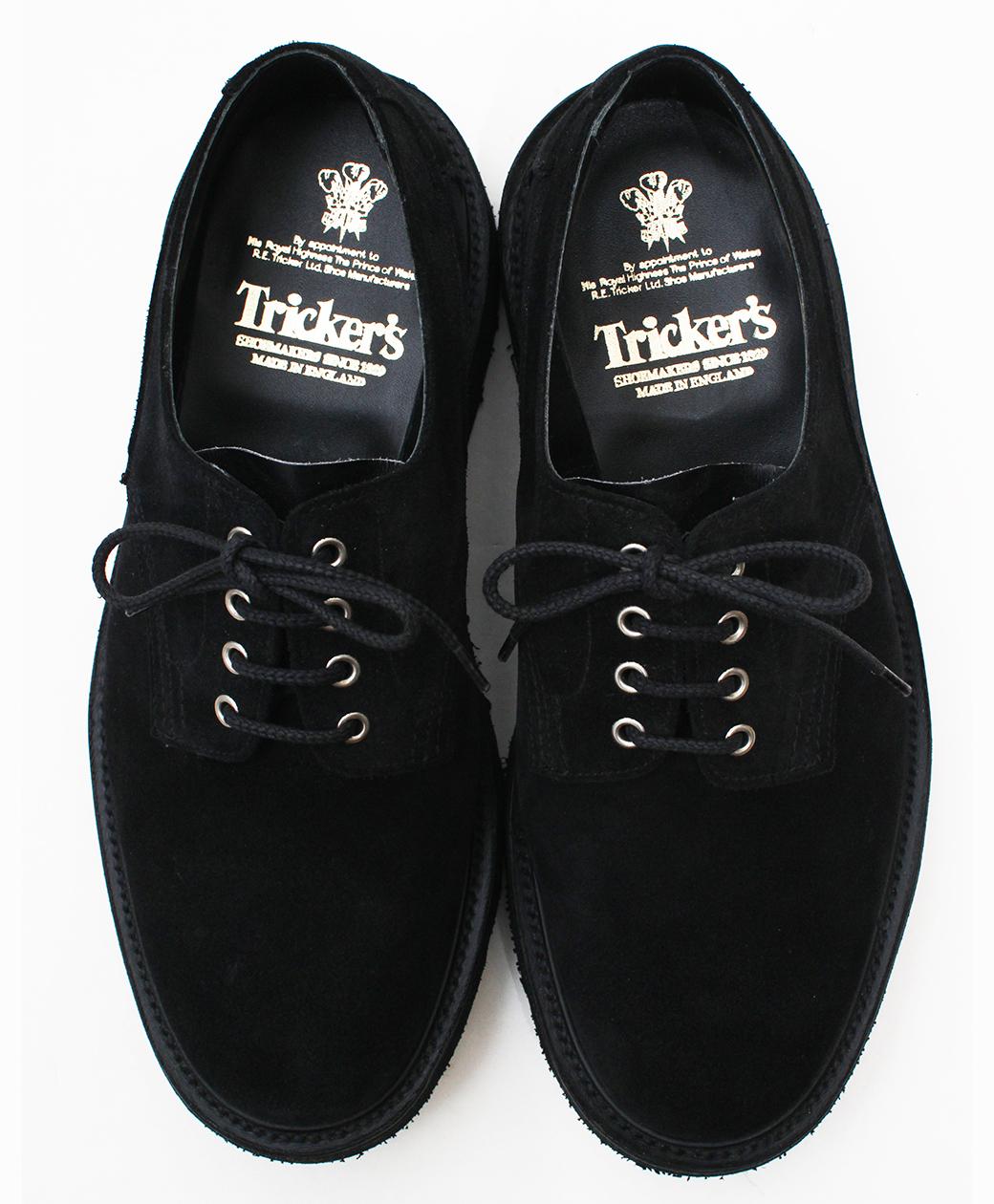 Tricker's M5636 Two Tone Super Shoes(Black)