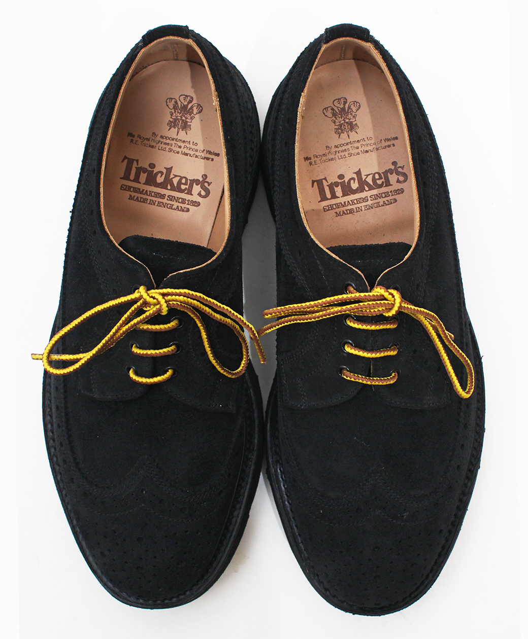 Tricker's M7306 Bloch Repello Suede Golosh Brogue(Black)