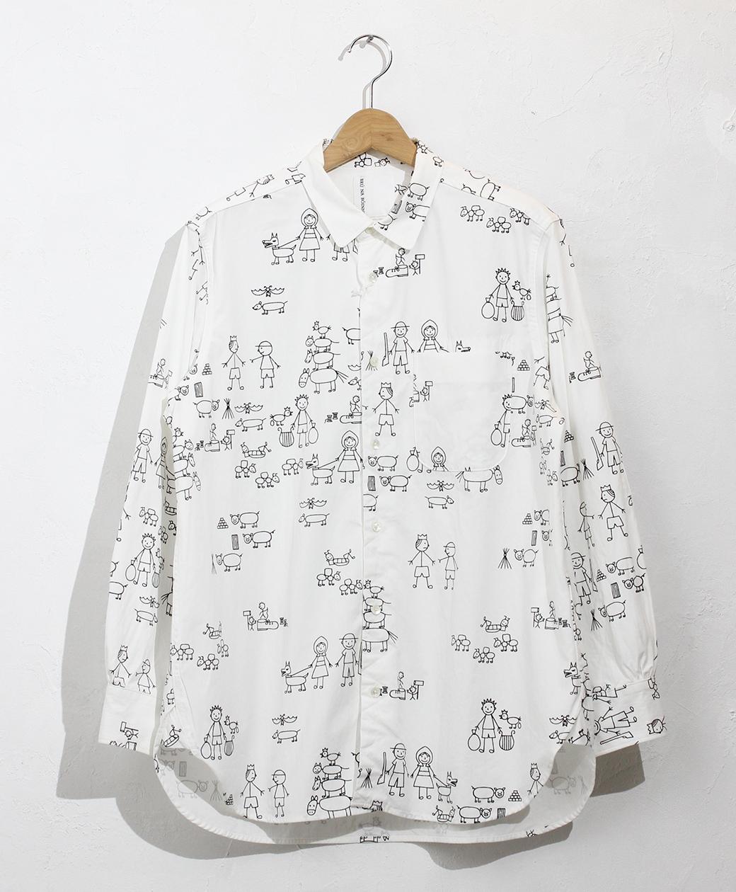 BRU NA BOINNE メイズステッチボーキャラシャツ