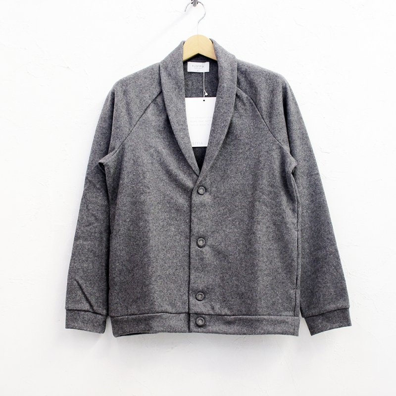 flistfia Shawl Collar Cardigan(Charcoal Gray)
