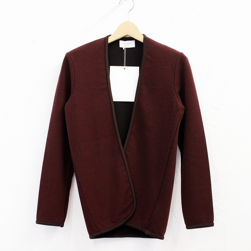 flistfia Piping Cardigan(Burgundy)