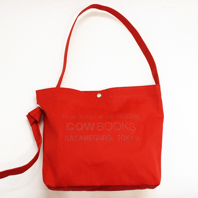 COW BOOKS Book Vender Tote(Shoulder/Red×Red)