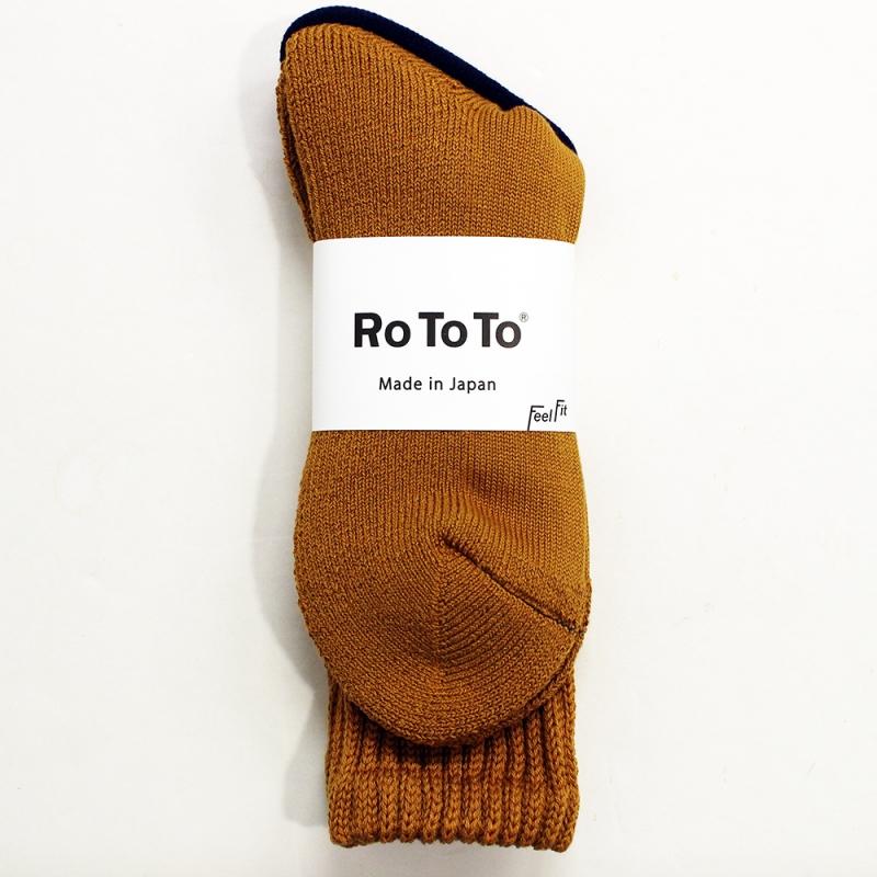 RoToTo LOOSE PILE SOCKS(D.YELLOW)