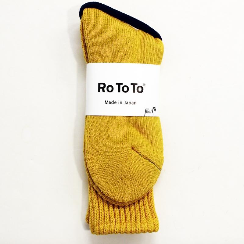 RoToTo LOOSE PILE SOCKS(YELLOW)