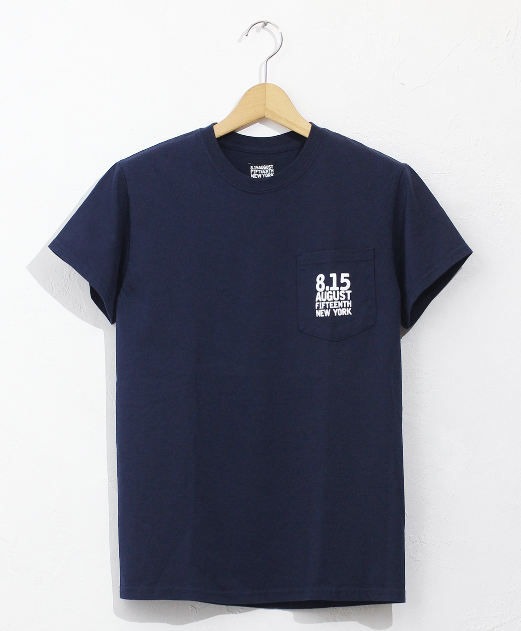 8.15 August Fifteenth LOGO POCKET TEE 8.15 LP LOGO(NAVY)