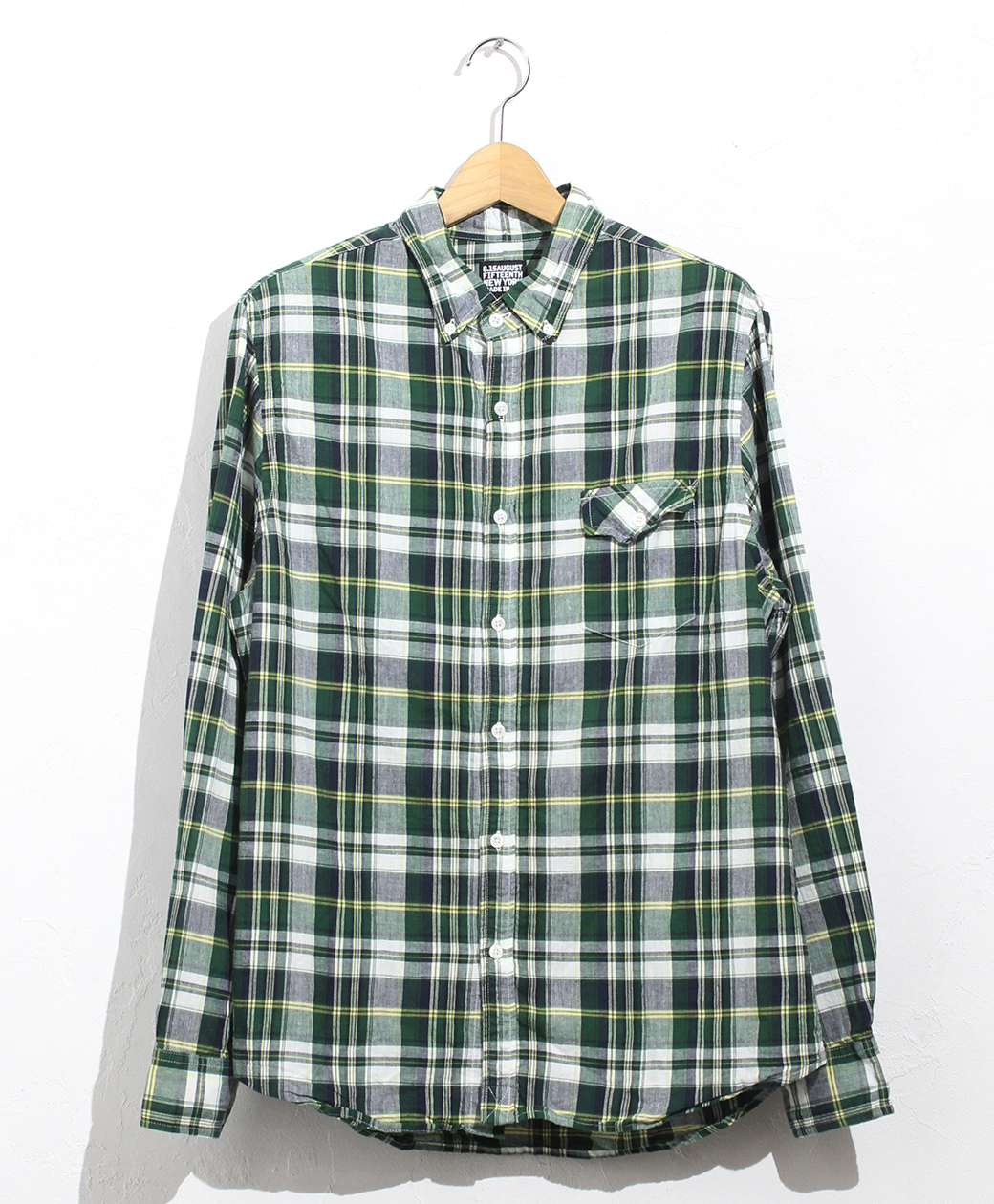 8.15 August Fifteenth NATURAL FIT B.D.SHIRT(VINTAGE MADRAS PLAID)