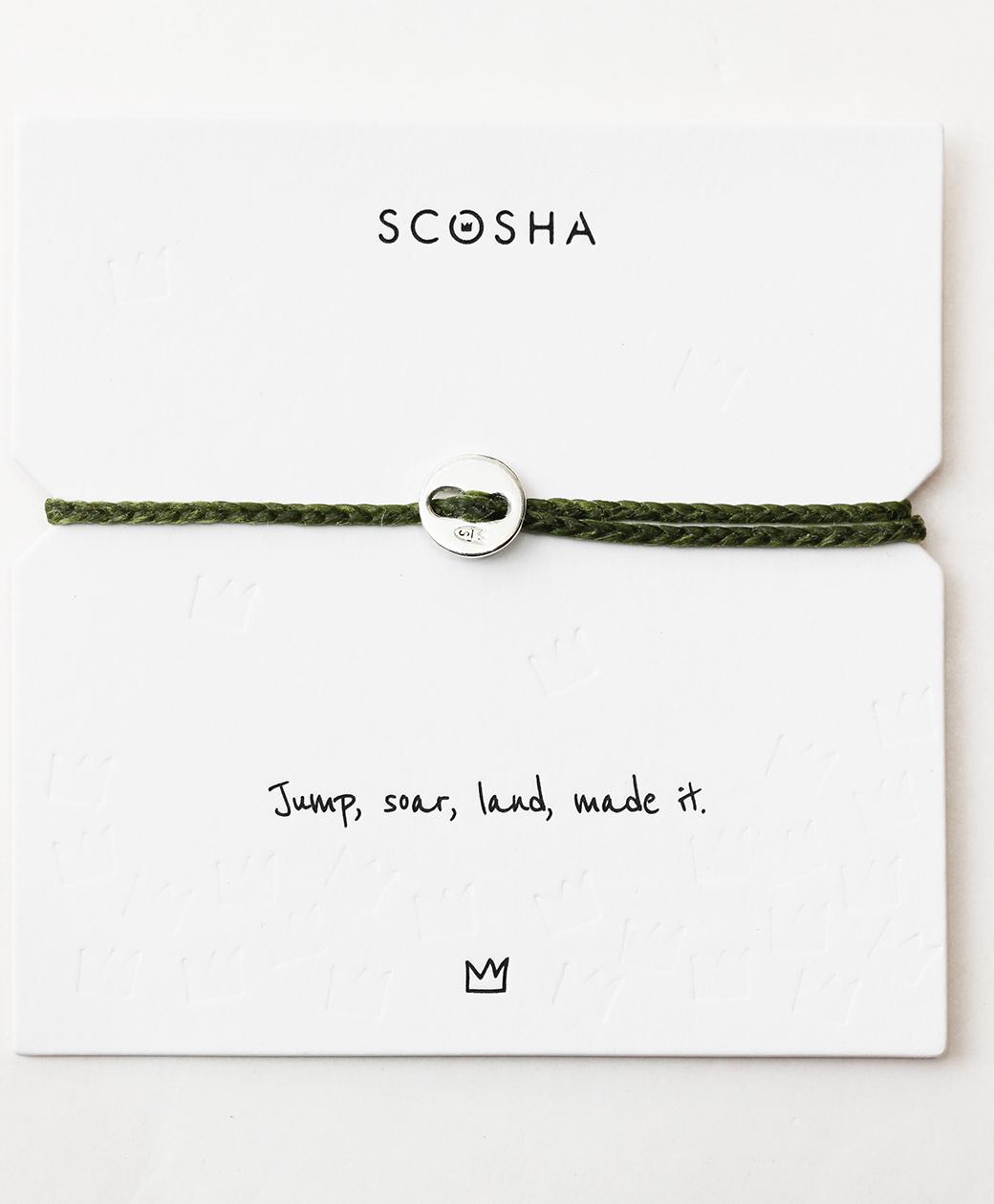 scosha Bracelet SS(OLIVE)