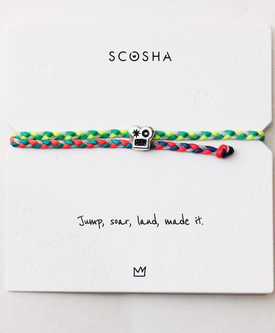 scosha SIGNATURE BRAINS SLIDER BRACELET(RAINBOW/WHITE)