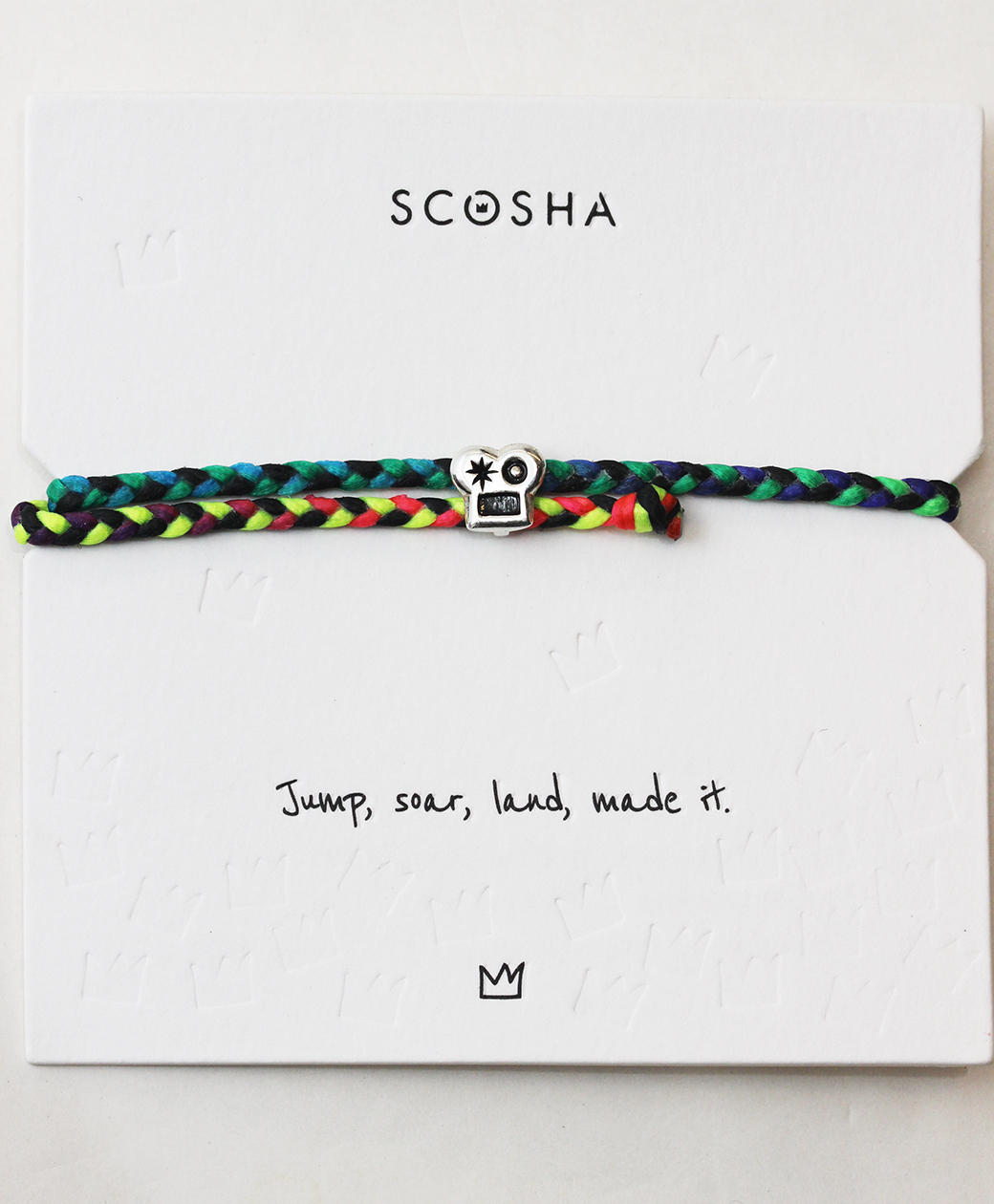 scosha SIGNATURE BRAINS SLIDER BRACELET(RAINBOW/BLACK)