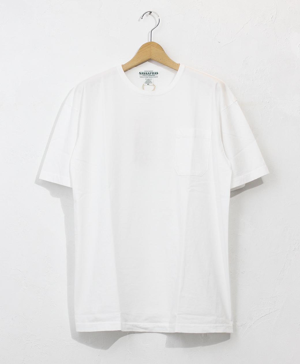 SASSAFRAS 20SS Chop Corner Pocket T 1/2(White)