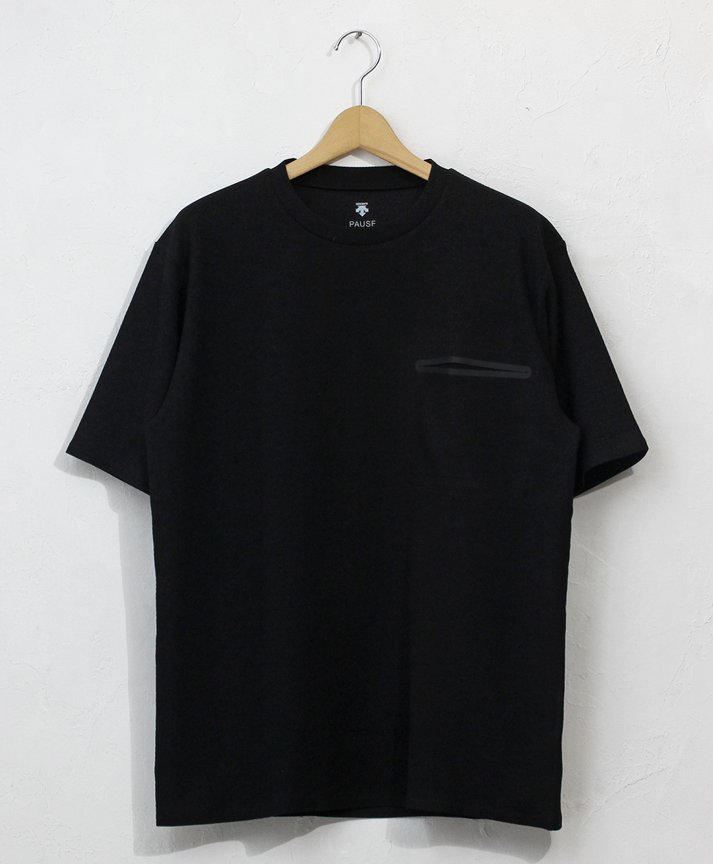 DESCENTE THERMAL SLASH POCKET H/S T-SHIRT(BLK)