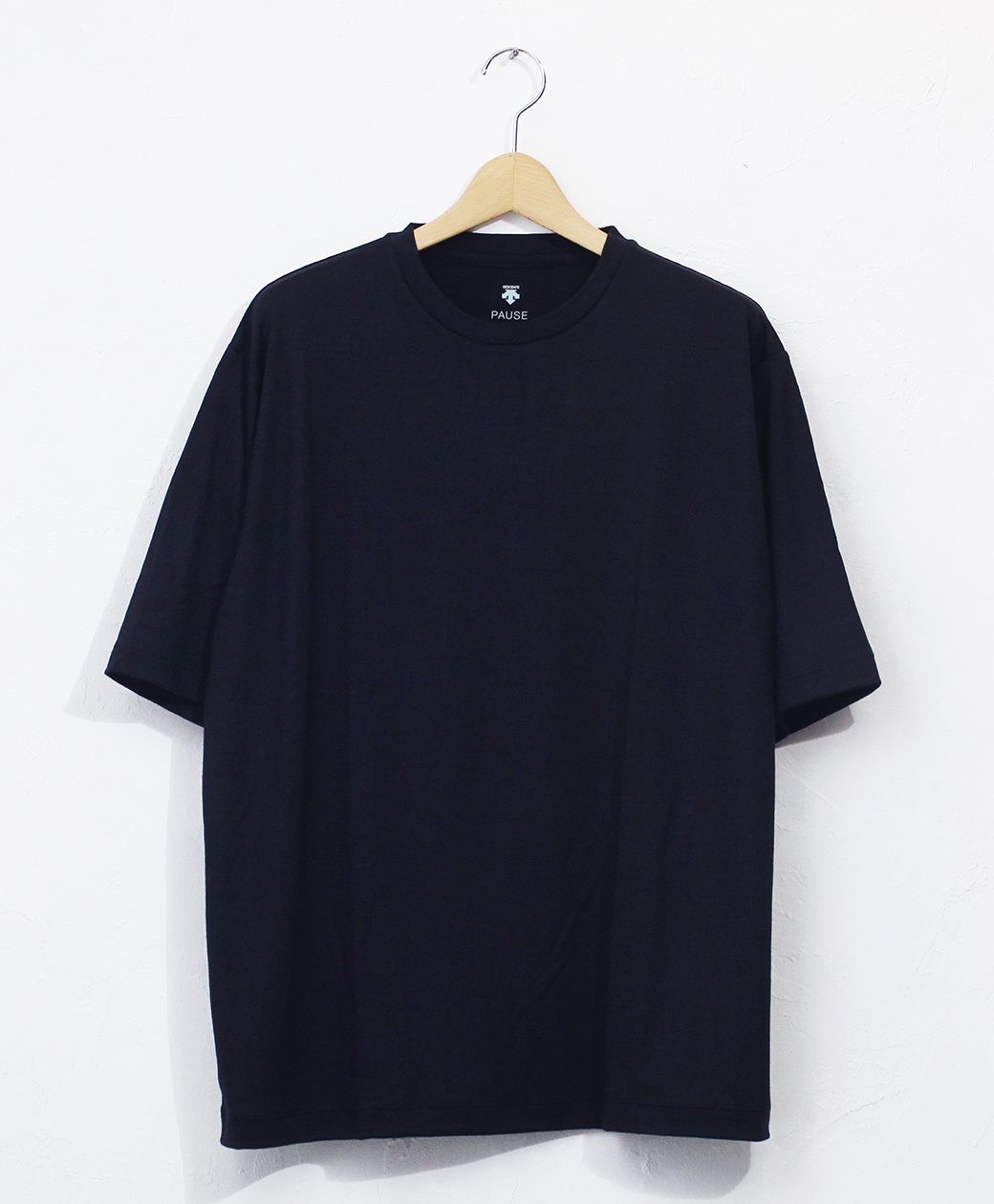 DESCENTE MERINO WOOL H/S T-SHIRT(NVY)