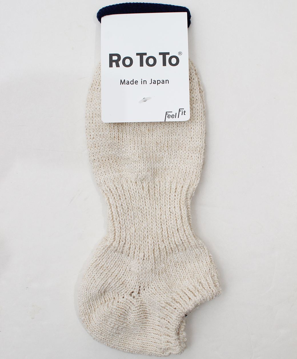 RoToTo LOW GAUGE SLUB SOCKS SHORT(ECRU)