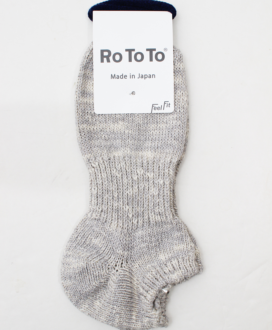 RoToTo LOW GAUGE SLUB SOCKS SHORT(L.GRAY)