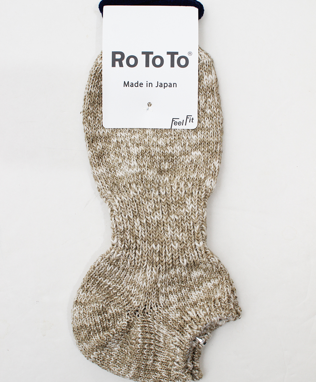 RoToTo LOW GAUGE SLUB SOCKS SHORT(BEIGE)