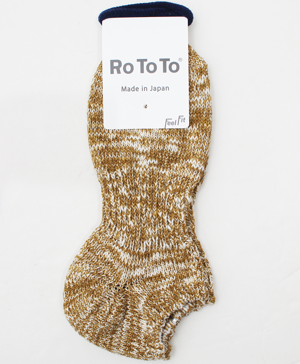 RoToTo LOW GAUGE SLUB SOCKS SHORT(MUSTARD)