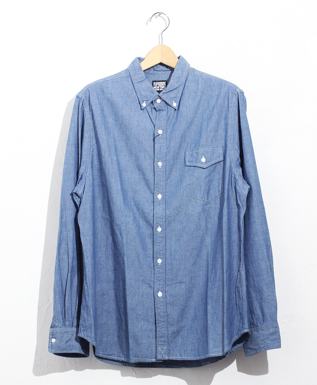 2020AW COLLECTION SALE !! 8.15 August Fifteenth NATURAL FIT B.D. L/S SHIRT(PREMIUM CHAMBRAY)