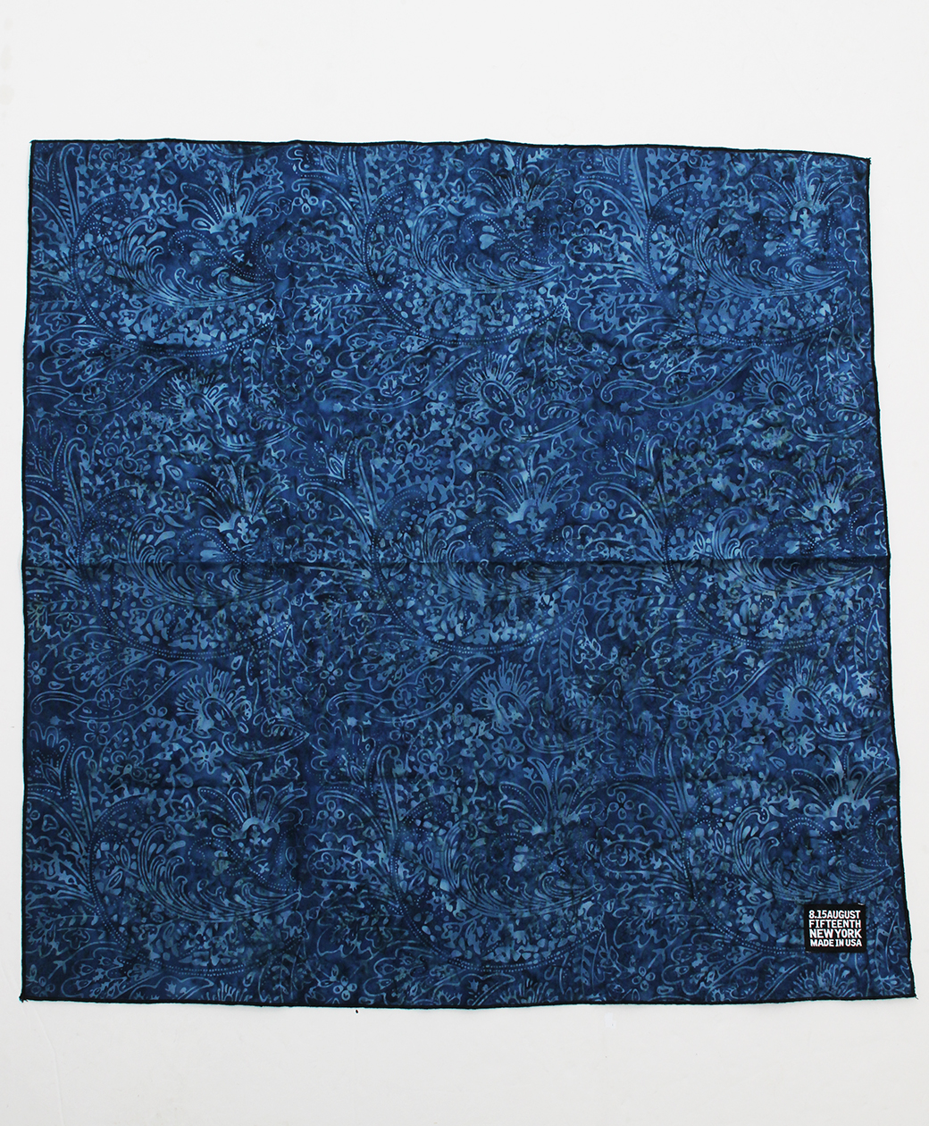 2020AW COLLECTION SALE !! 8.15 August Fifteenth BANDANA/NECKCHIEF(BLUE BATIK)
