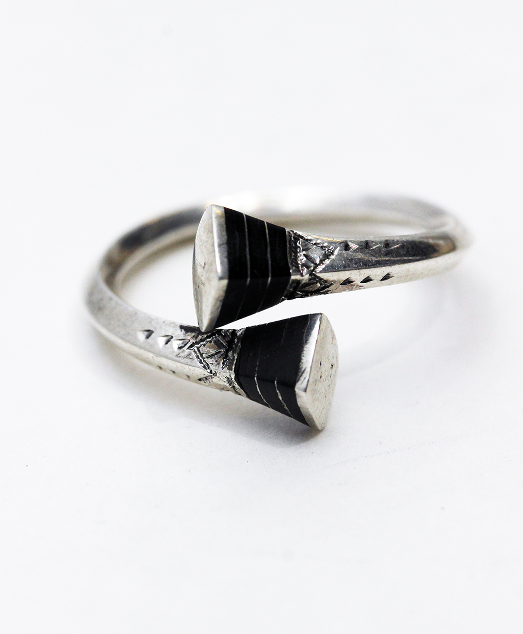 TUAREG SILVER JEWELRY SQUARE END RING