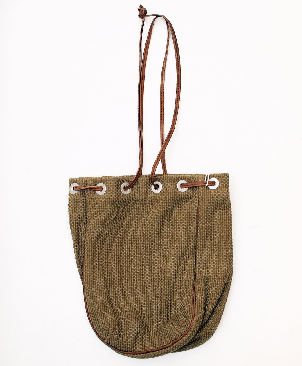 hobo COTTON SASHIKO WEAVE DRAWSTRING BAG(BROWN)