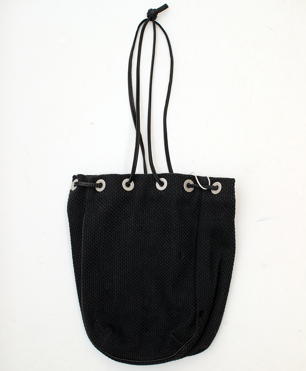 hobo COTTON SASHIKO WEAVE DRAWSTRING BAG(BLACK)