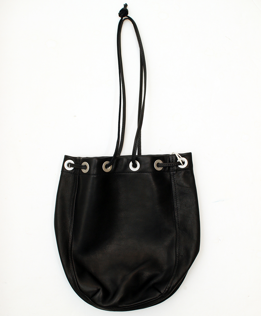 hobo HORSE LEATHER DRAWSTRING BAG(BLACK)