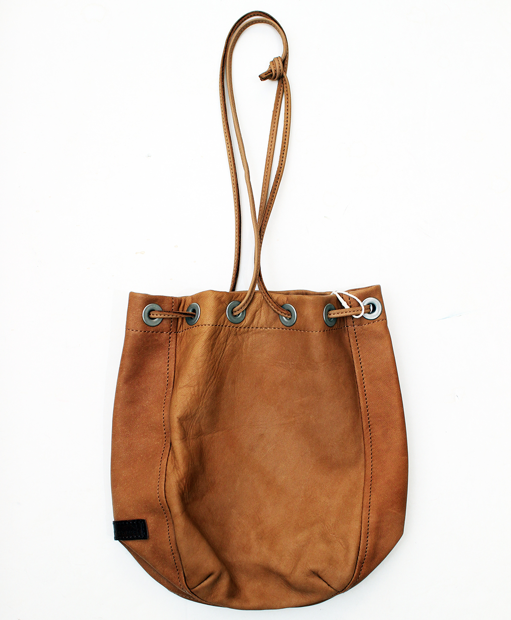 hobo HORSE LEATHER DRAWSTRING BAG(BROWN)