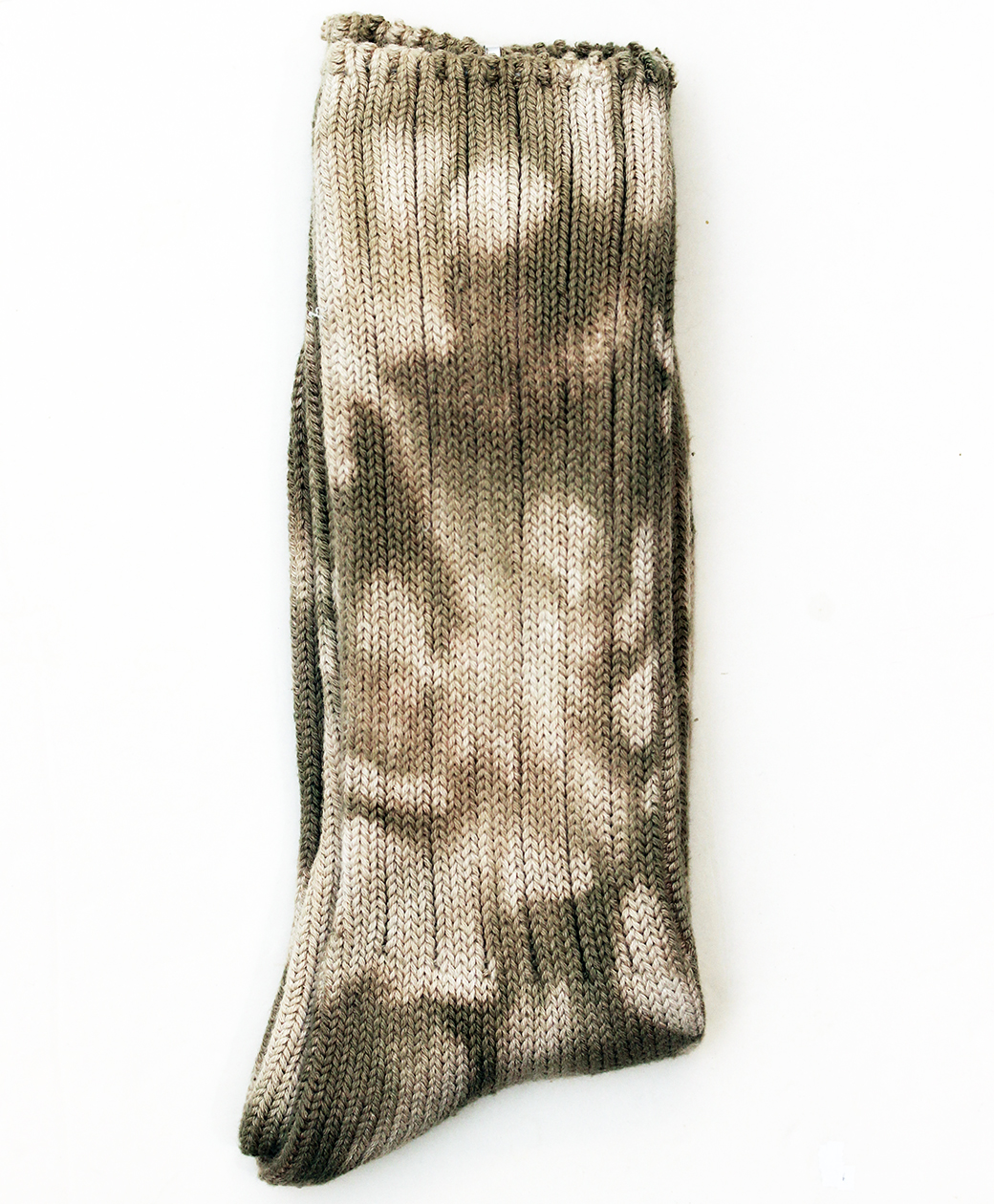 hobo TIE-DYED COTTON CREW SOCKS(BEIGE)