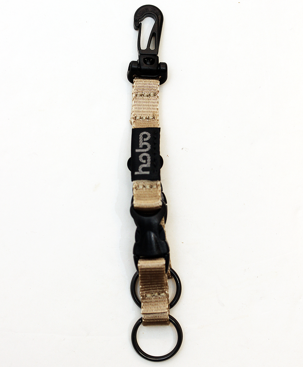 hobo NYLON TAPE KEY RING with DOUBLE BUCKLE RELEASE(BEIGE)
