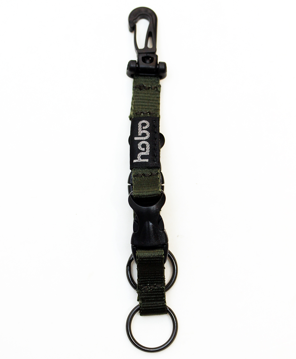 hobo NYLON TAPE KEY RING with DOUBLE BUCKLE RELEASE(OLIVE)