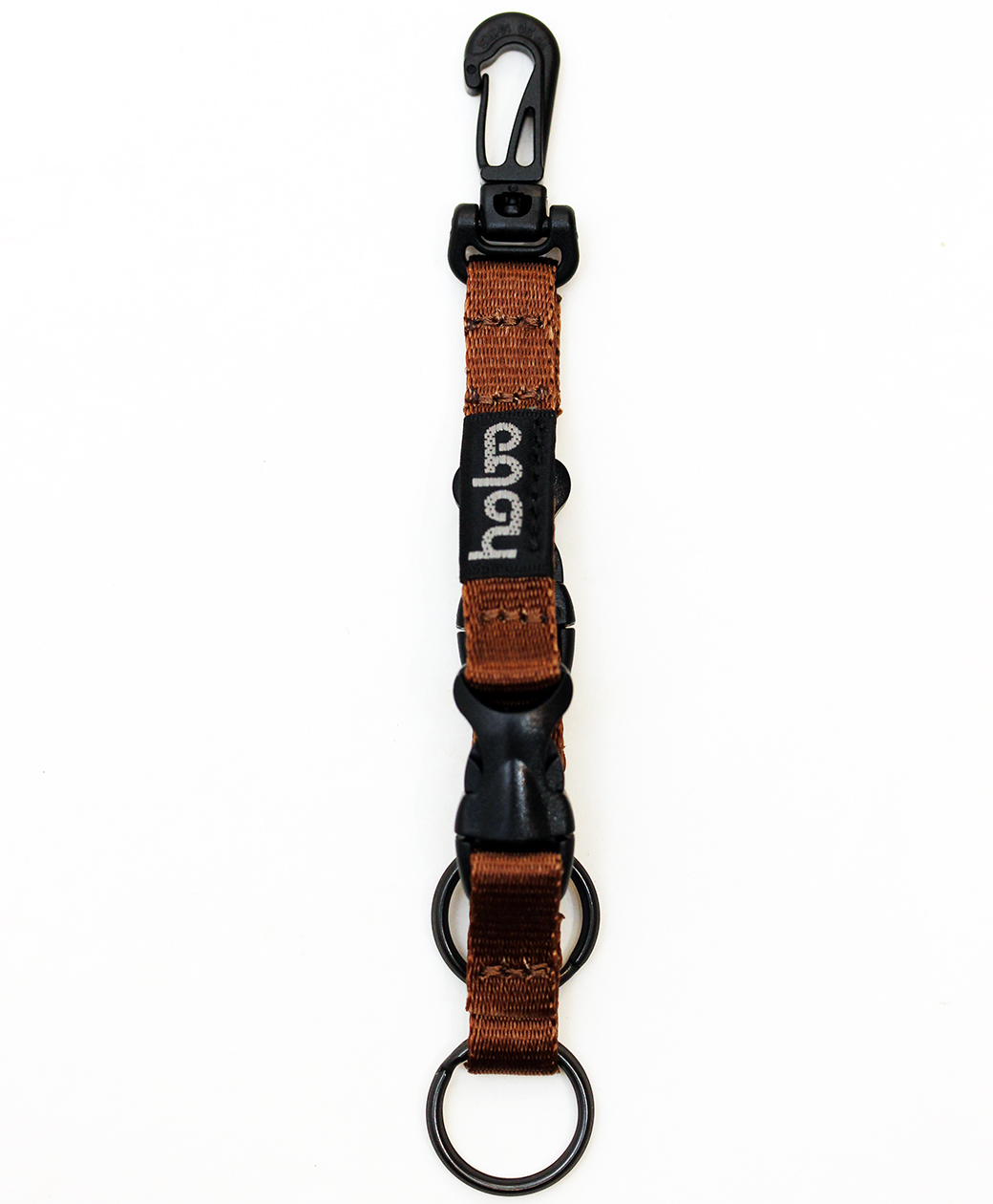 hobo NYLON TAPE KEY RING with DOUBLE BUCKLE RELEASE(BROWN)