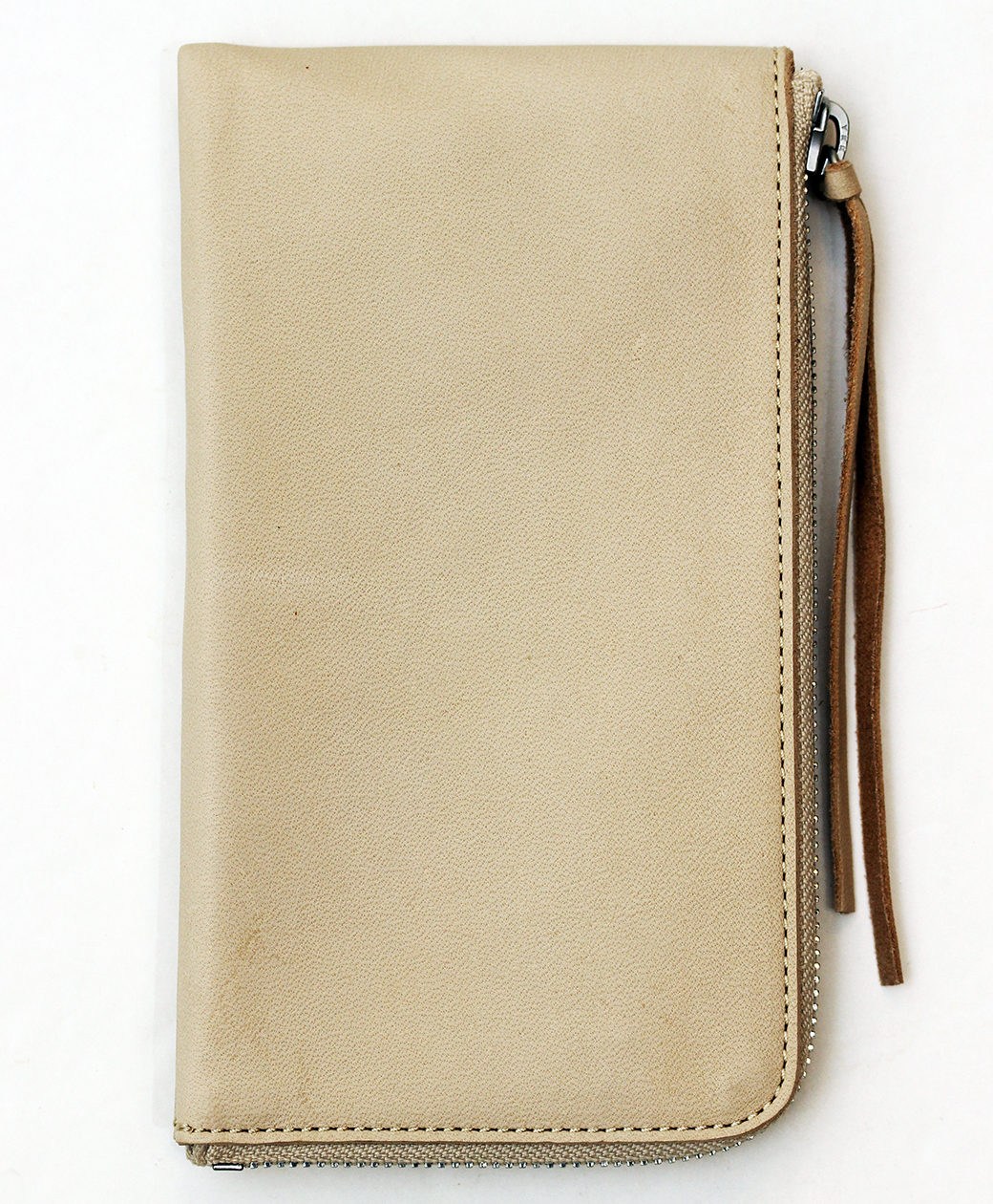 hobo HORSE LEATHER LONG ZIP WALLET(BEIGE)