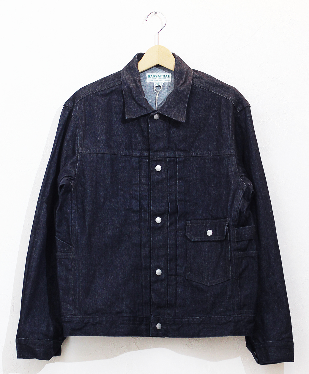 SASSAFRAS Gardener Jacket(13.5oz Broken Denim)