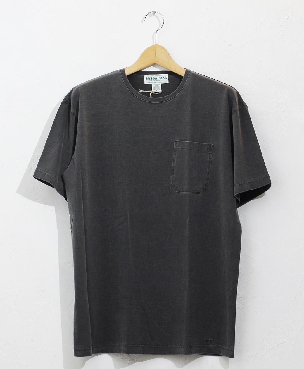 SASSAFRAS Chop Corner Pocket T 1/2(Black Pigment)