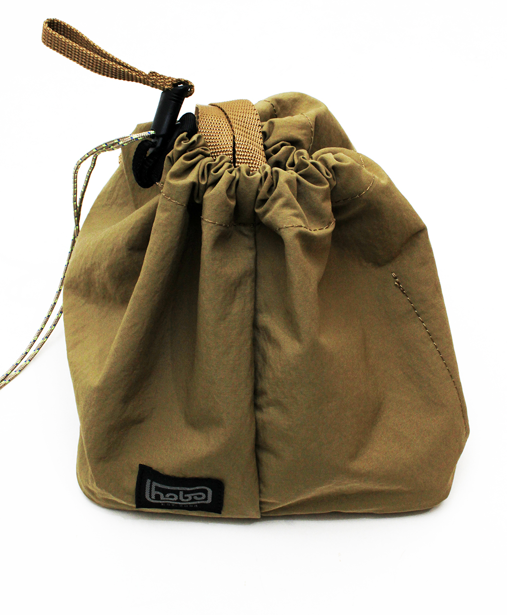 hobo NYLON TUSSAH DRAWSTRING SHOULDER BAG(BEIGE)