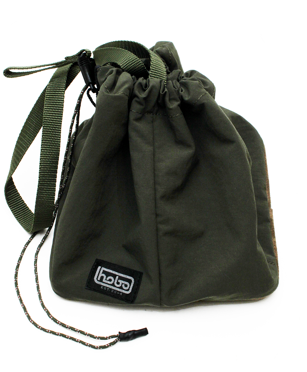 hobo NYLON TUSSAH DRAWSTRING SHOULDER BAG(OLIVE)