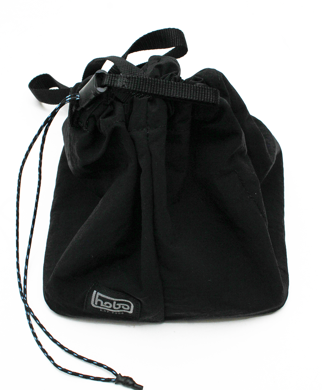 hobo NYLON TUSSAH DRAWSTRING SHOULDER BAG(BLACK)