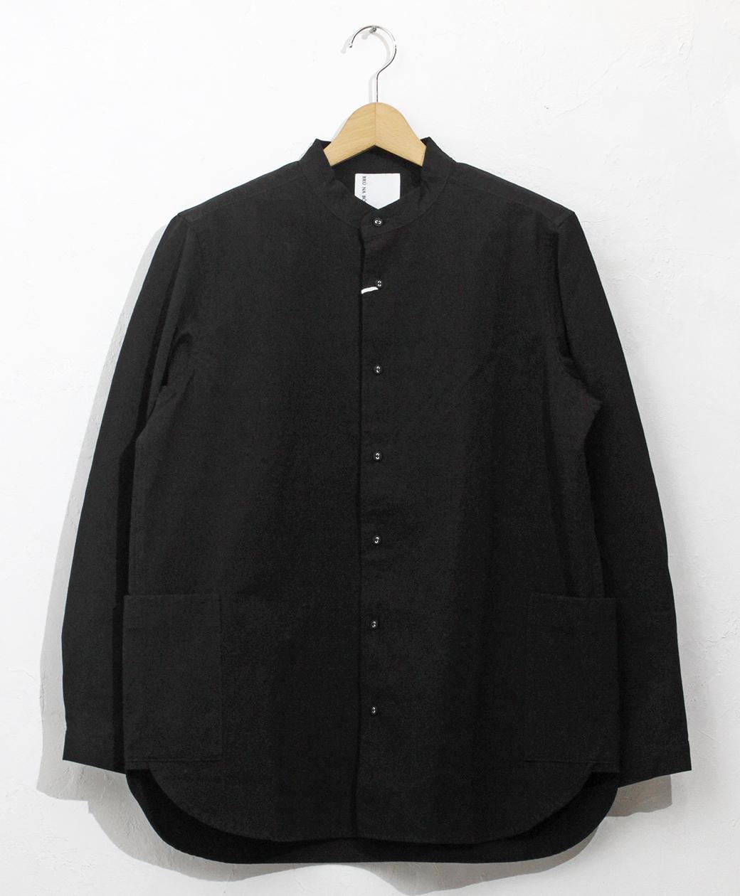 BRU NA BOINNE オックススナフシャツ(ブラック)