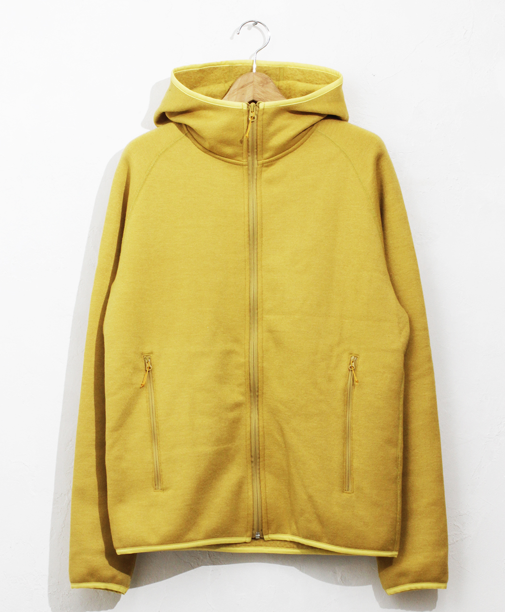 yetina full-zip hoodie(Mustard)