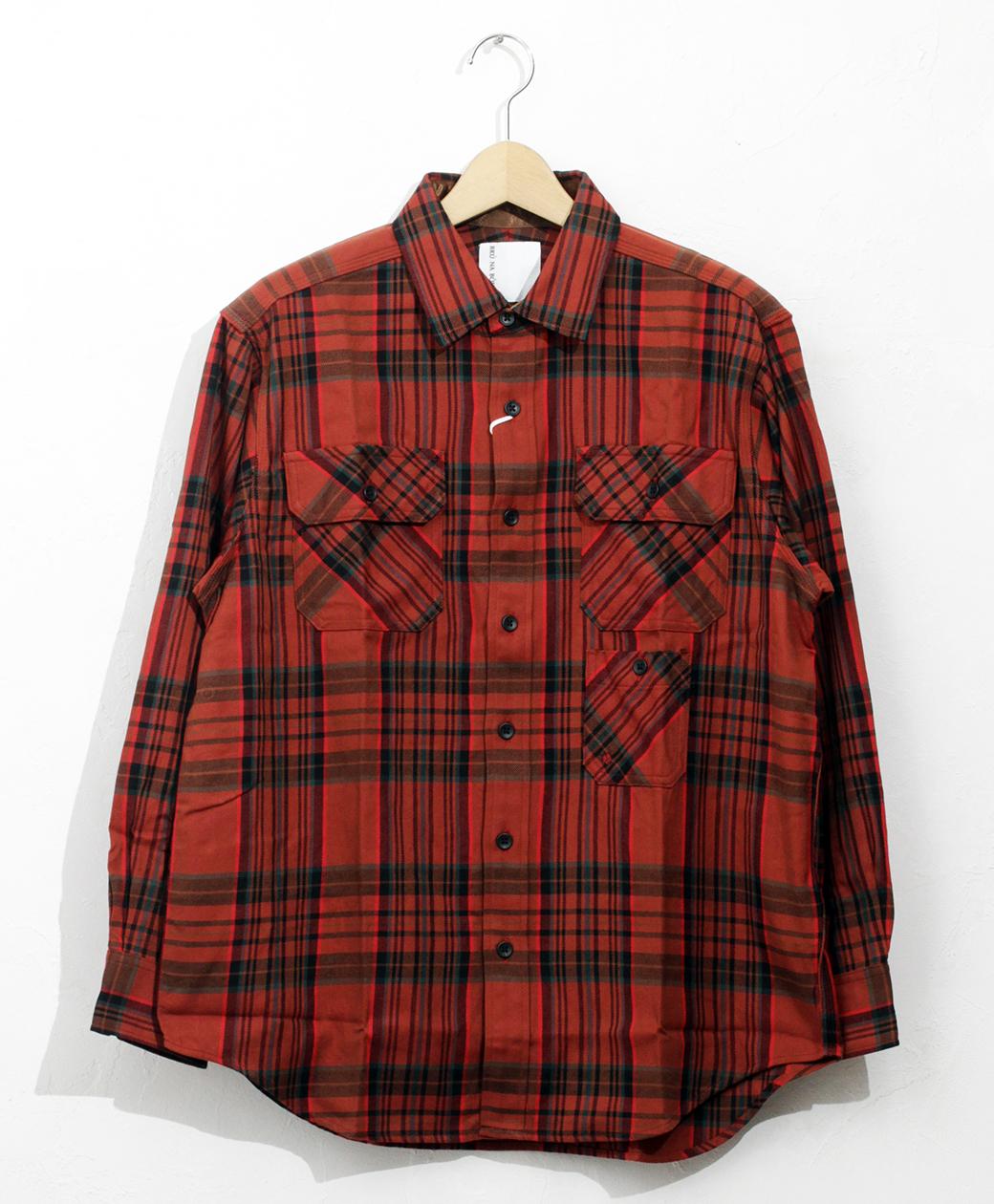 BRU NA BOINNE ブルーナクランチェックシャツ(レッド/レッドネップ)
