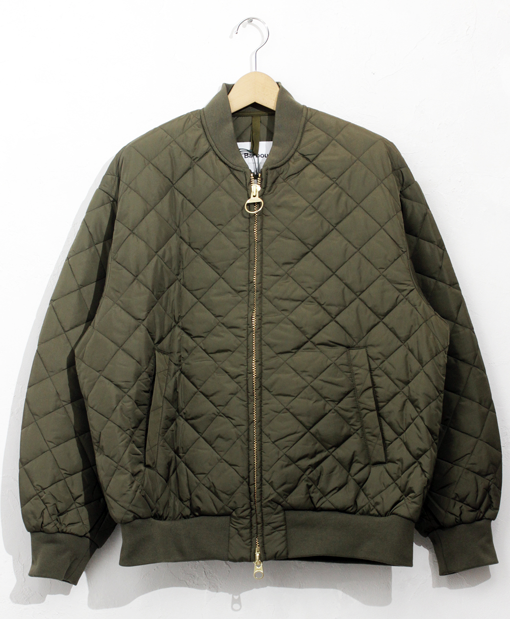 Barbour QUILTED BOMBER JACKET OS NYLON(Olive)