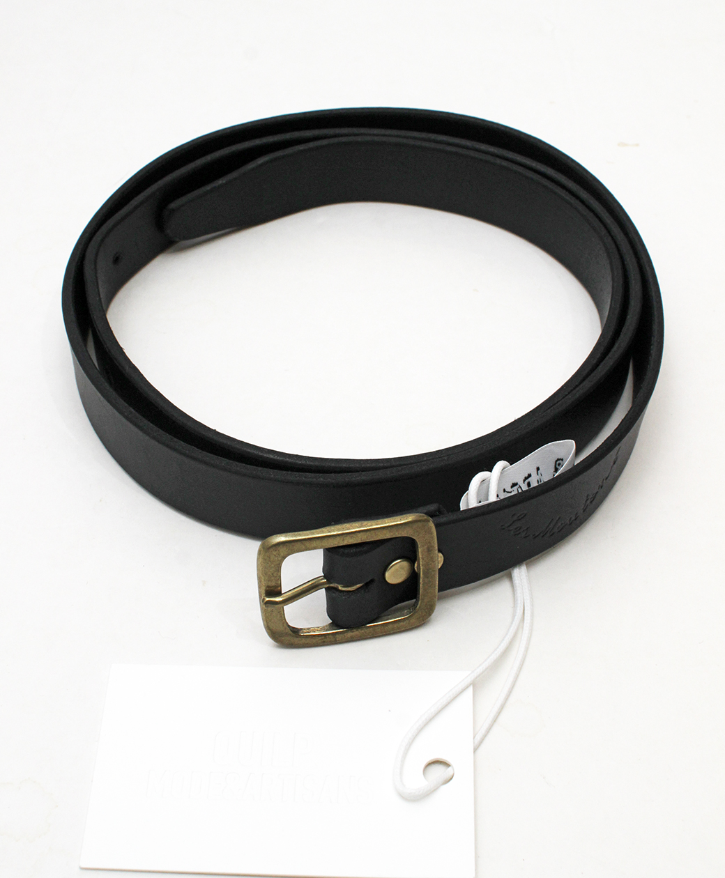 "QUILP QUILP x Les Moutons ""STAńKO"" Leather Belt(BLACK)"