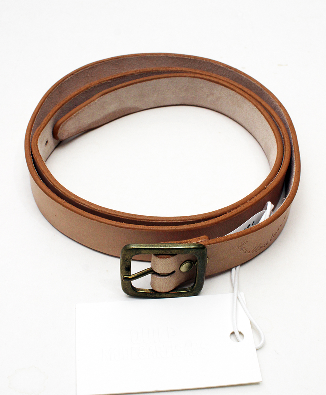 "QUILP QUILP x Les Moutons ""STAńKO"" Leather Belt(NATURAL)"