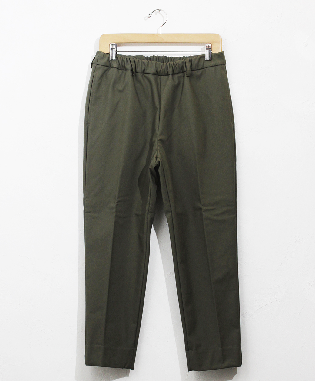 2020AW COLLECTION SALE !! flistfia Belted Trousers(Khaki×Cream)