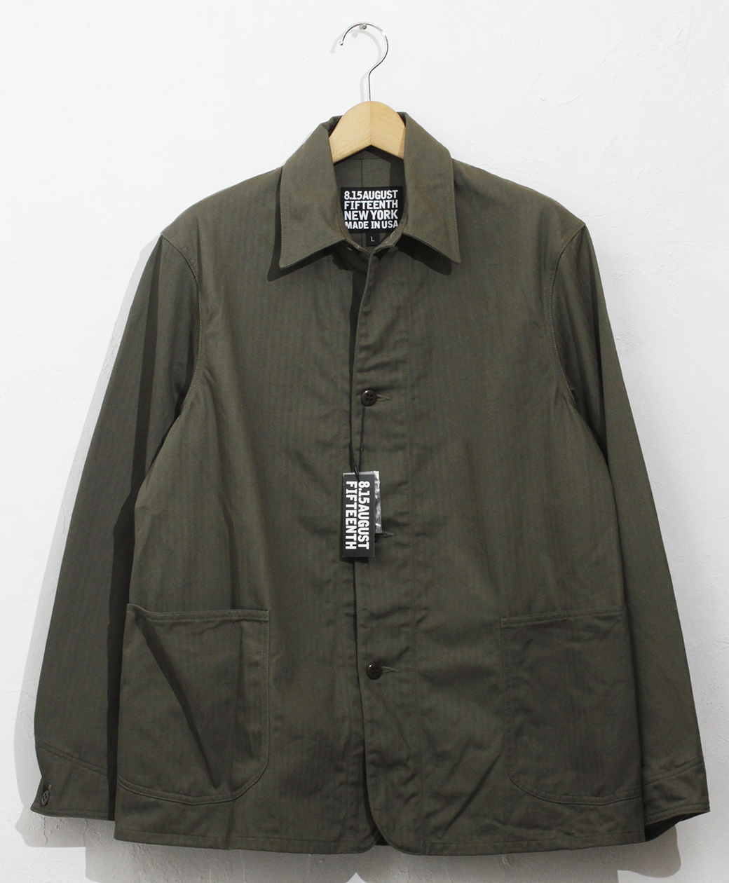 2020AW COLLECTION SALE !! 8.15 August Fifteenth INDUSTRIAL COVERALL JACKET(HERRINGBONE TWILL)